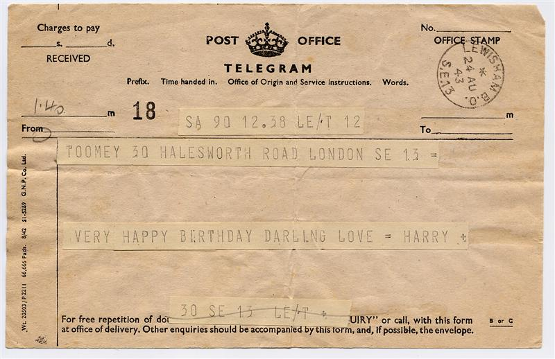 Harry s telegram relative s telegram jack s telegram